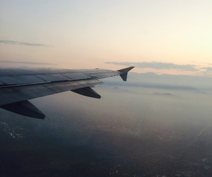 airplane, fly, and morning image