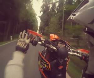 motocross, ktm, and wheelie image