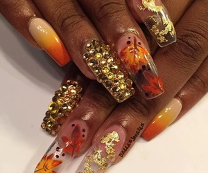 autumn, manicure, and nail art image
