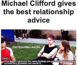 5sos, michael clifford, and advice image