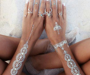 beach, girl, and nails image