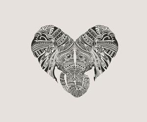 elephant, love, and tattoo image