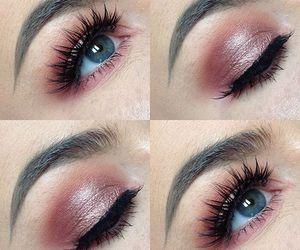 eye makeup, eyeshadow, and fake lashes image