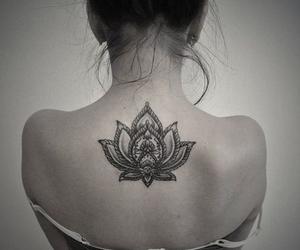 tattoo, flowers, and lotus image