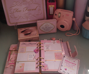 filofax, planner, and too faced image