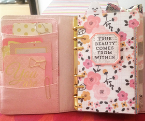 agenda, filofax, and pink image