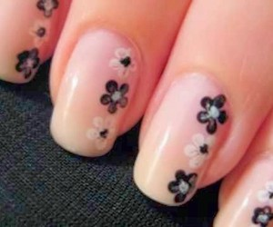 Easy, flower, and nail art image