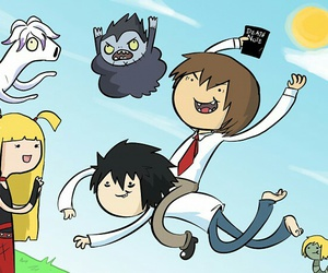 death note, adventure time, and anime image