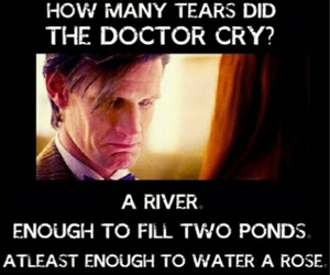 doctor who, sad, and cry image