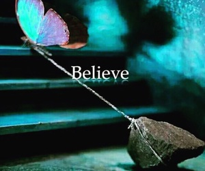 believe, butterfly, and stone image