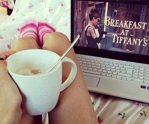 morning, coffee, and girl image
