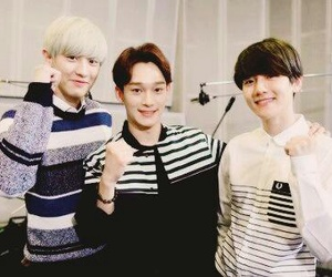 exo, Chen, and chanyeol image