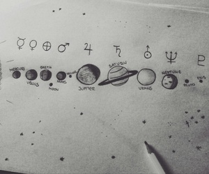 art, astronomy, and doodle image
