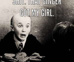 girl, harry potter, and malfoy image