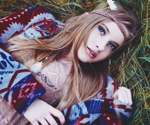 girl, hippie, and model image