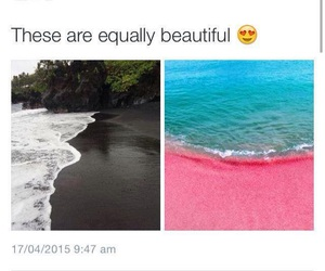 beach, black, and pink image