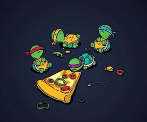 pizza, turtle, and ninja image
