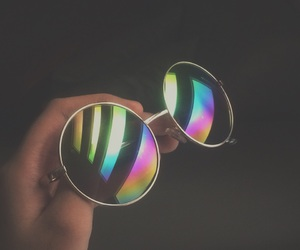 colors, rainbow, and shades image