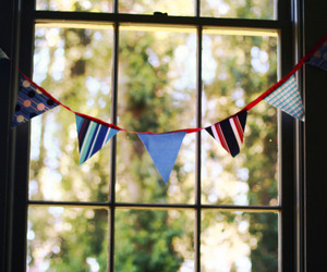 flags, vintage, and window image
