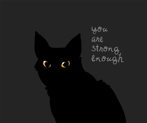 cat, quotes, and strong image