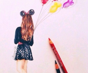 art, draw, and balloons image
