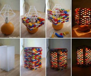 diy, lego, and lamp image