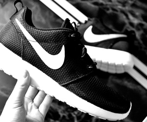 black and white, inspo, and nike image