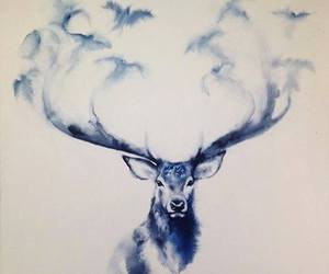 deer, drawing, and art image