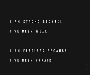 quote, strong, and fearless image