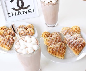 hearts, marshmallows, and hot ​chocolate image