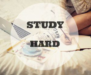 study, school, and study hard image