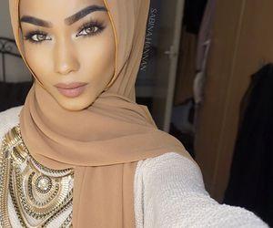 girl, beauty, and hijab image