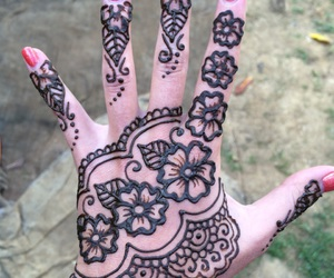 festival, henna, and indian image