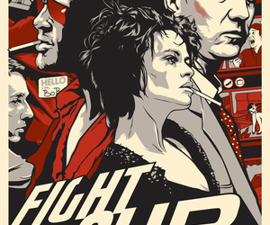 fight club, brad pitt, and helena bonham carter image