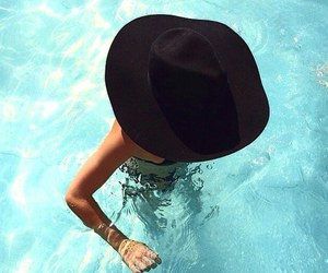 summer, girl, and hat image