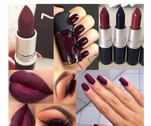 nails, makeup, and fall image