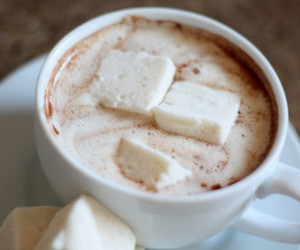 hot chocolate, drink, and yummy image