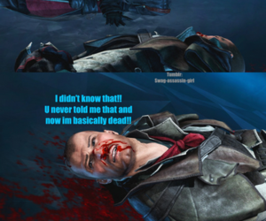 Assassins Creed, funny, and gamer image
