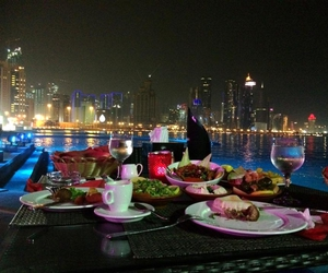 dinner, doha, and in image
