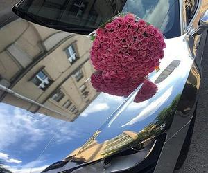 car, beautiful, and rose image