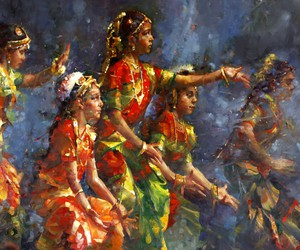 classical, dance, and india image