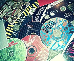 nirvana, cd, and grunge image