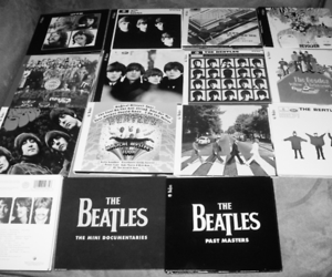 the beatles, rock, and vintage image