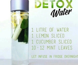 detox, healthy, and water image
