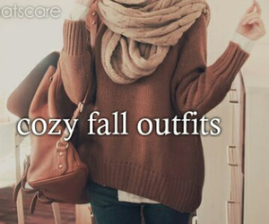 outfit, cozy, and fall image