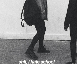 school, grunge, and hate image