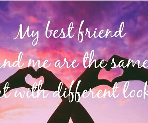best friend, different, and friendship image
