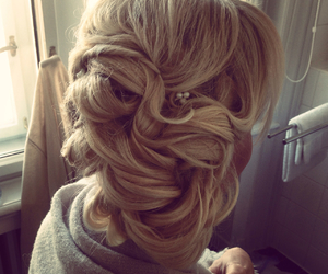 beauty, hair, and weding image