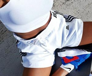 nike, adidas, and girl image