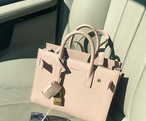 bag, pink, and style image
